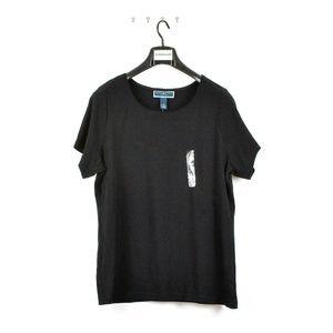Karen Scott Women's Plus Size Short Sleeve Shirt
